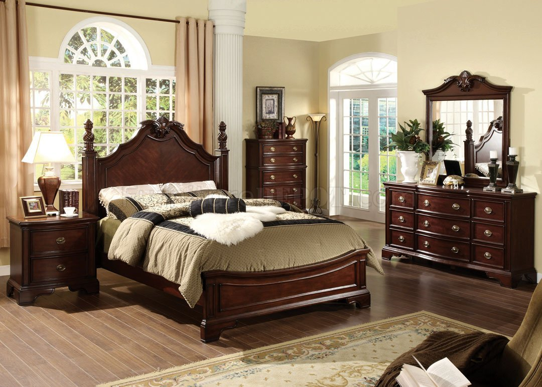 Best Cm7310L Carlsbad Bedroom In Dark Cherry W Options With Pictures