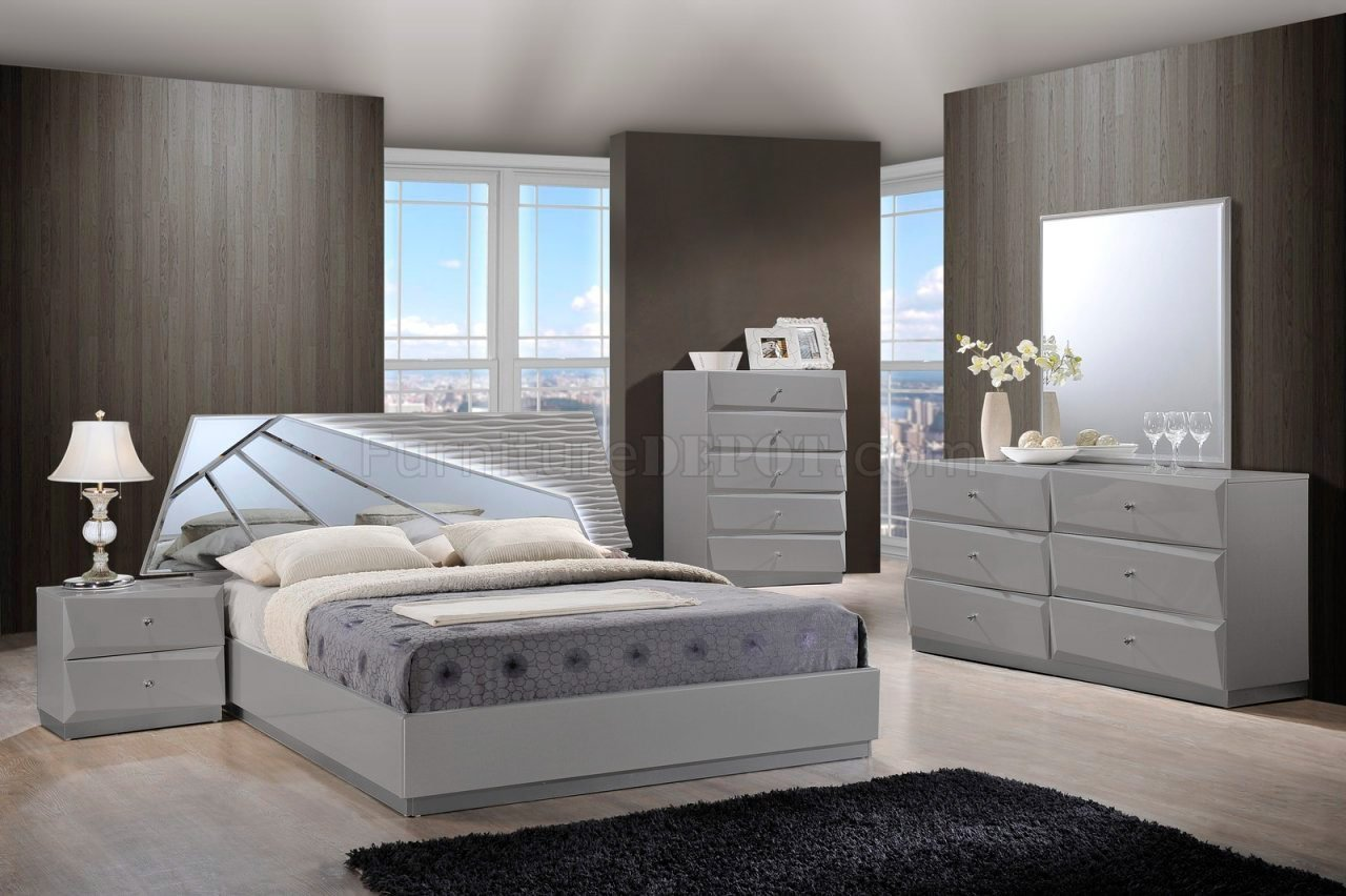 Best Barcelona Bedroom Set In Grey By Global With Pictures