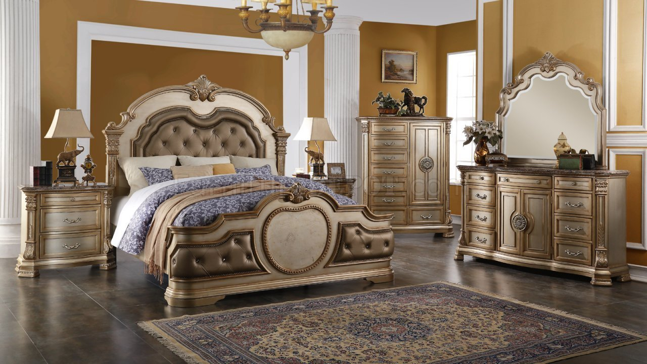 Best Infinity Gold Traditional 5Pc Bedroom Set W Options With Pictures
