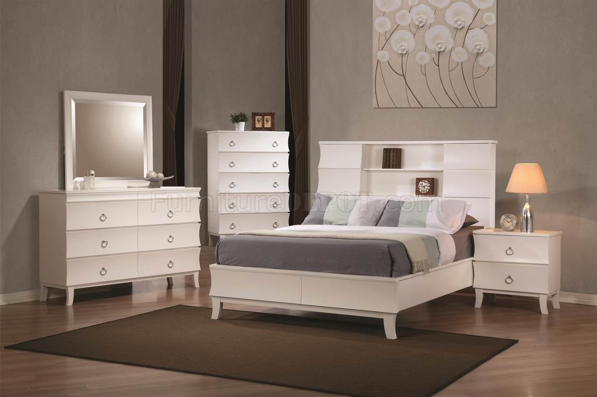 Best White Finish Holland Modern Bedroom W Options By Coaster With Pictures
