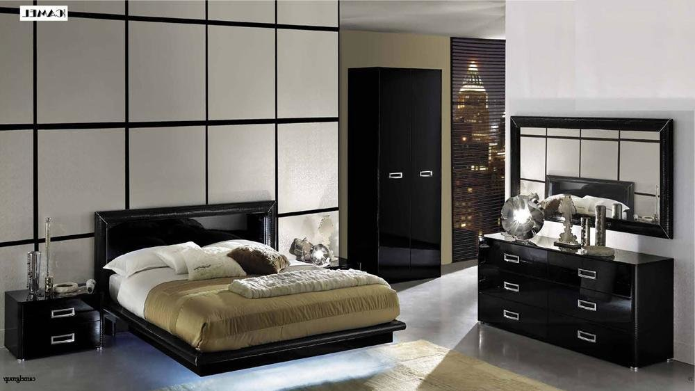 Best La Star High Gloss Black Lacquer Bedroom Set Bedroom Sets With Pictures