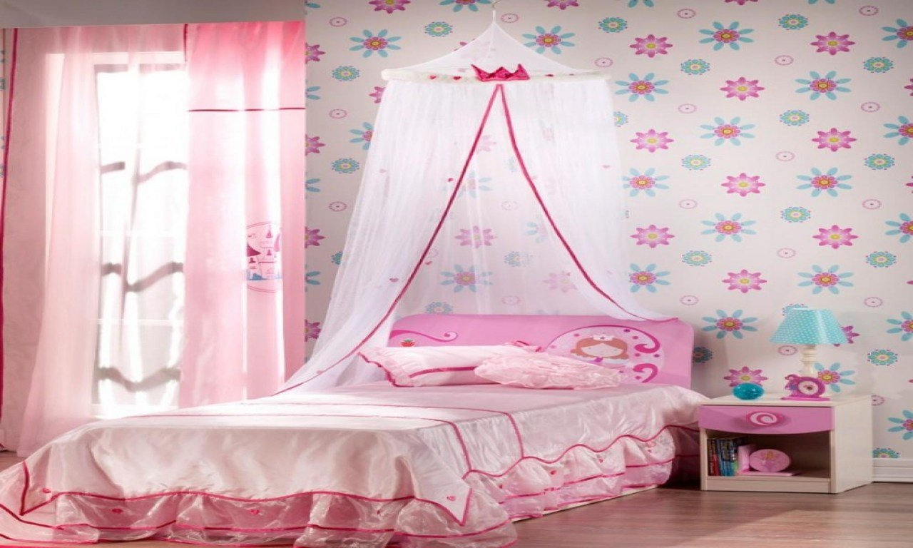 Best Pretty Wallpaper For Bedrooms Little Girls Pink Bedroom With Pictures