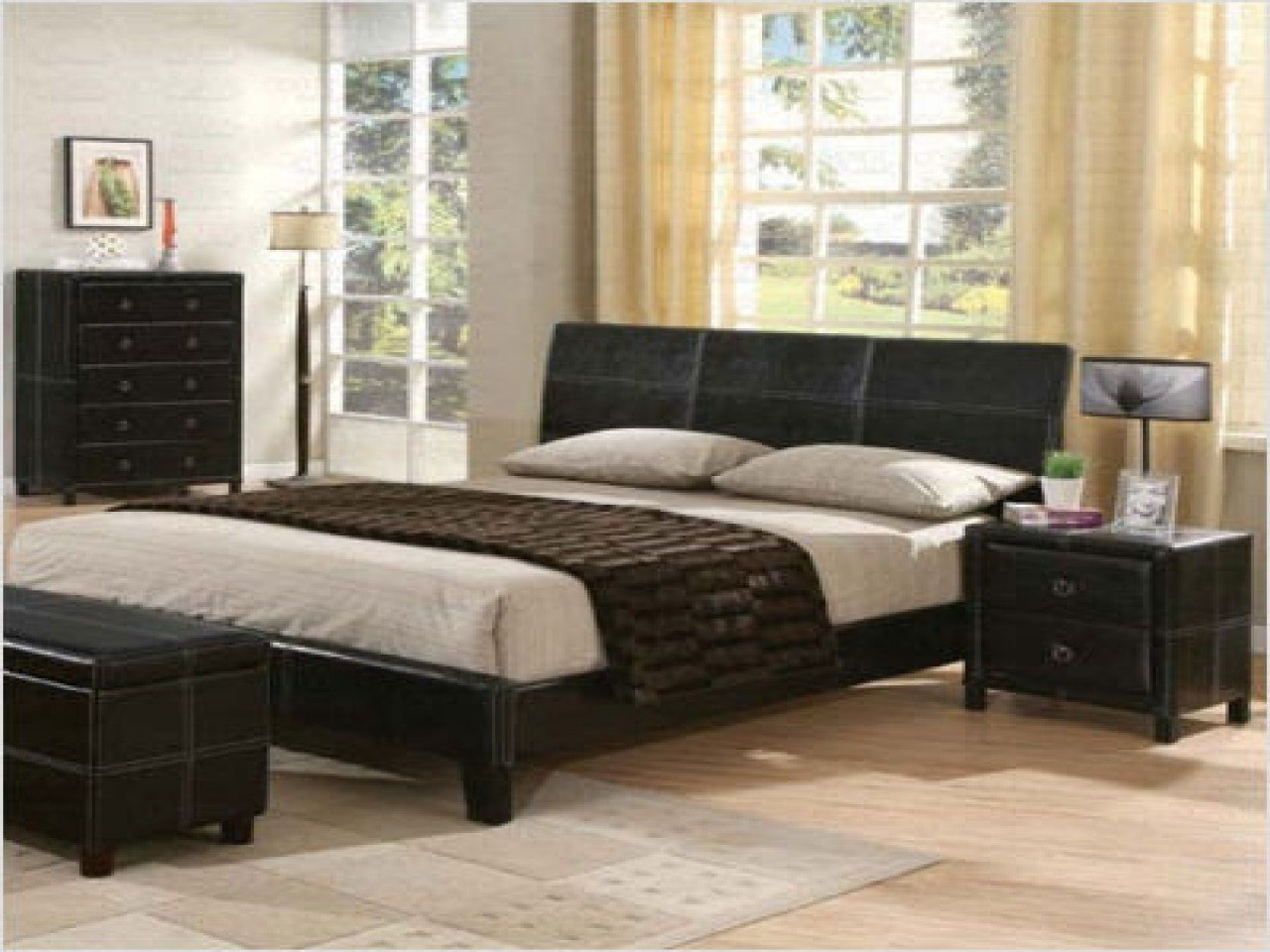 Best Modern Wood Vanity Black Leather Bedroom Furniture Faux With Pictures