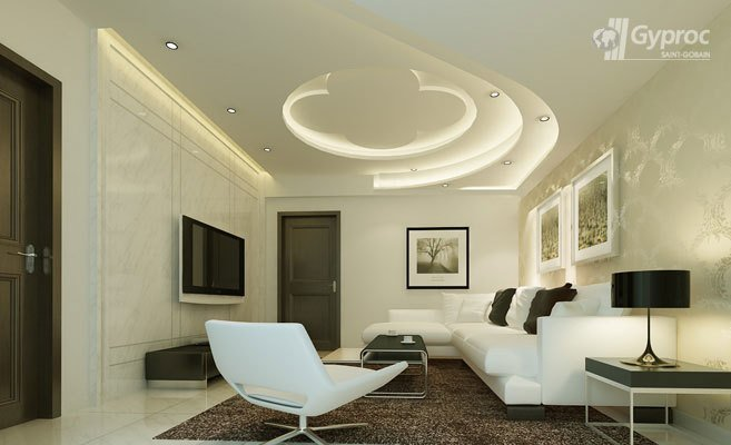 Best False Ceiling Designs For Living Room Saint Gobain With Pictures