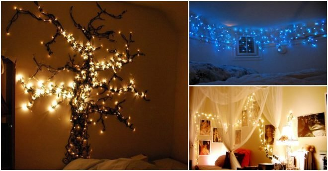 Best 15 Creative Ways To Hang Christmas Lights In Bedroom How To Instructions With Pictures