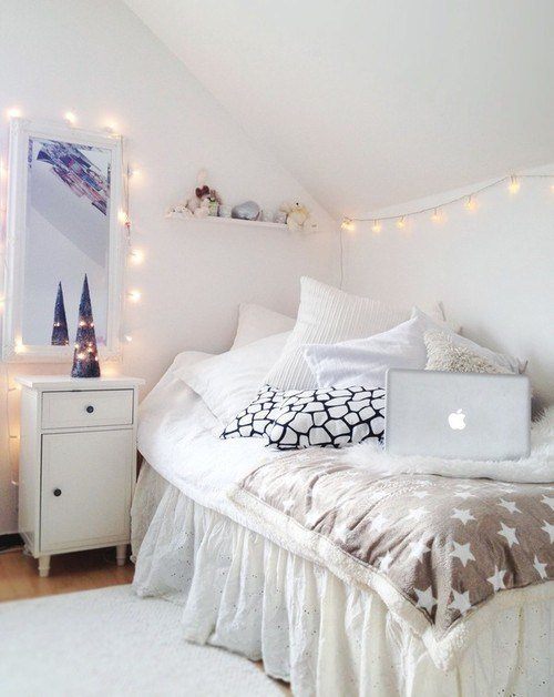 Best White Bedroom Love Fairy Lights Cute For A Little Girls With Pictures