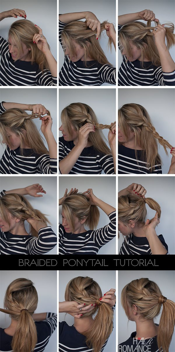 Free Easy Braided Ponytail Hairstyle How To Hair Romance Wallpaper