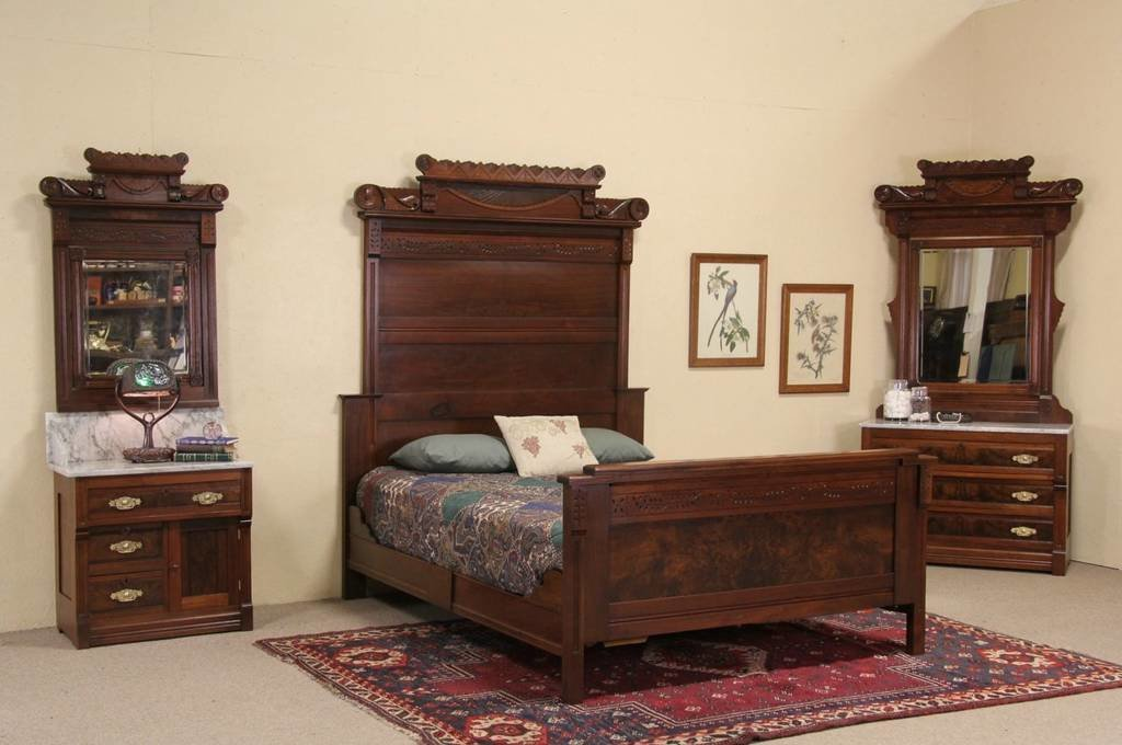 Best Sold Victorian Eastlake 1885 Antique Queen Size Bedroom With Pictures