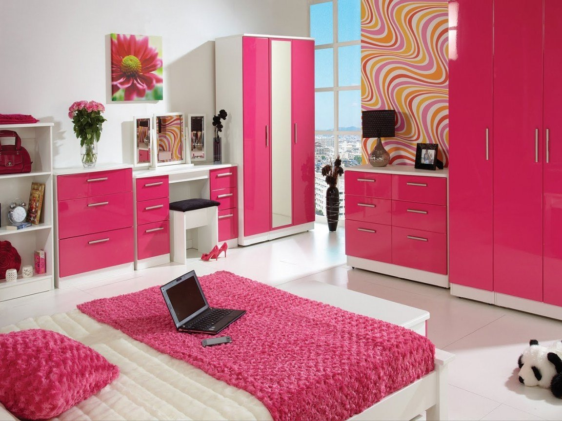 Best Black White And Pink Bedroom Ideas Big Living Room Big With Pictures