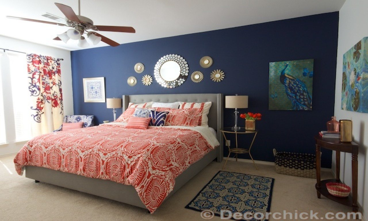 Best Navy Blue And White Bedroom Navy Blue And Coral Bedroom With Pictures