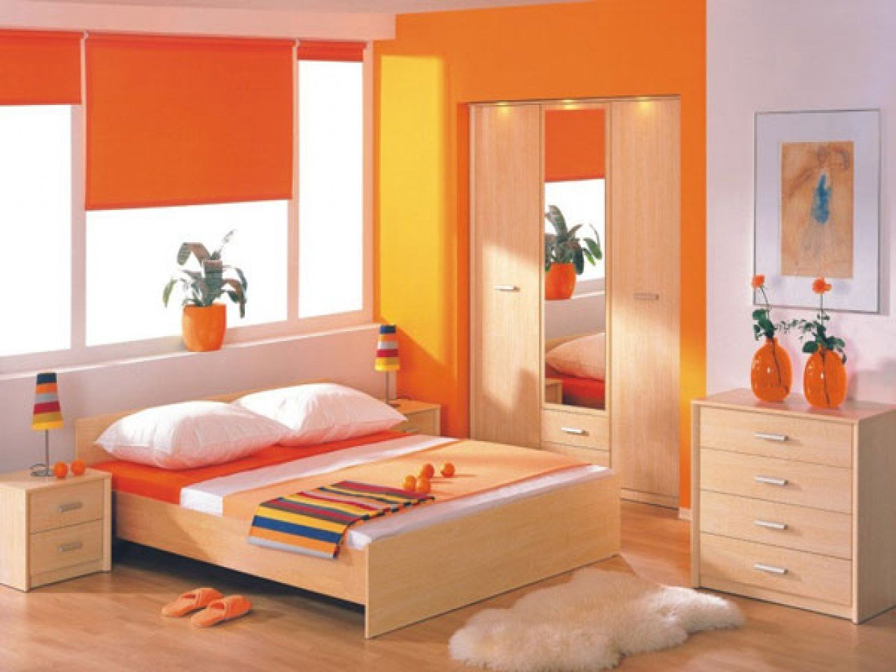 Best Orange Bedroom Ideas Asian Paints Colour Combination With Pictures