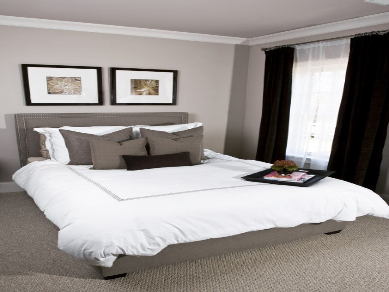 Best Pink And Gray Bedrooms White Bedding With Gray Paint With Pictures