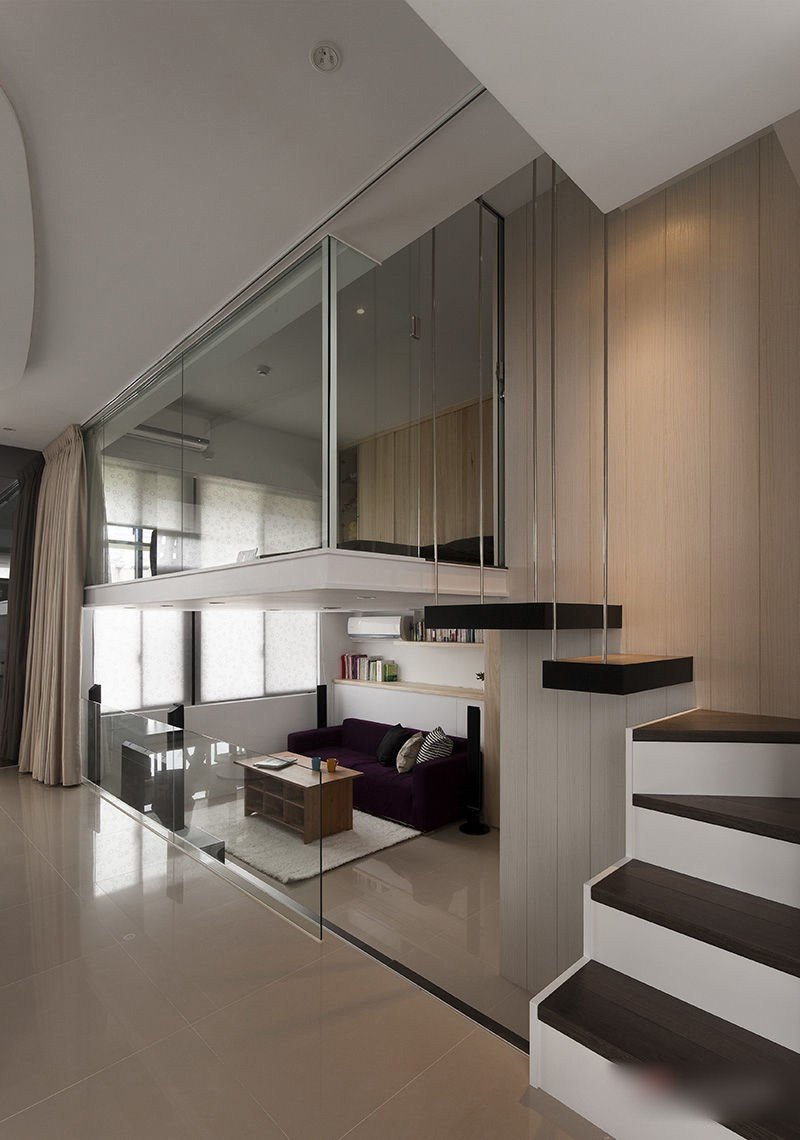 Best Modern Small Apartment With Open Plan And Loft Bedroom With Pictures