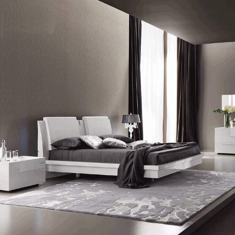 Best Rossetto Diamond White Bedroom Set Kobos Furniture With Pictures