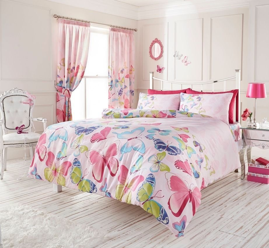 Best Fashion Light Pink Butterfly Girls Bedding Duvet With Pictures