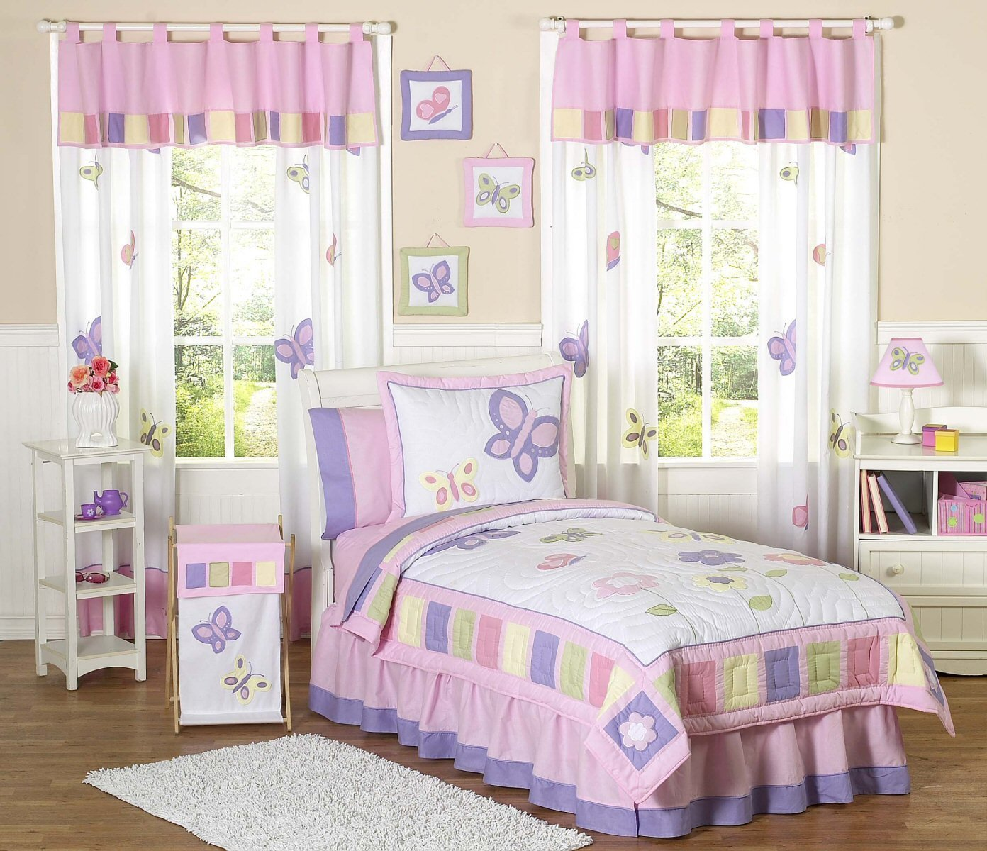 Best Kids Butterfly Bedding Pink Purple Lavender Twin Full With Pictures