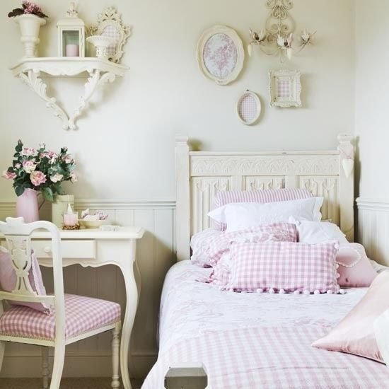 Best Young Girl S Vintage White Pink Bedroom Pictures Photos With Pictures