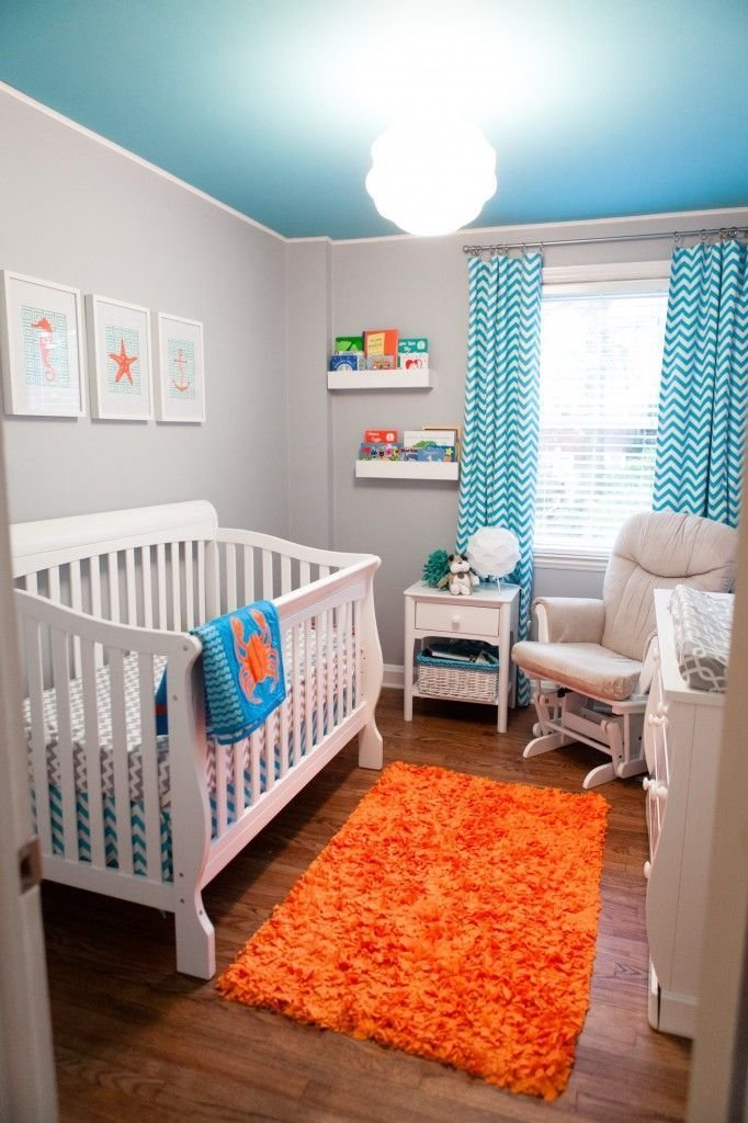 Best Turquoise Grey And Orange Baby Bos Room Pictures Photos With Pictures