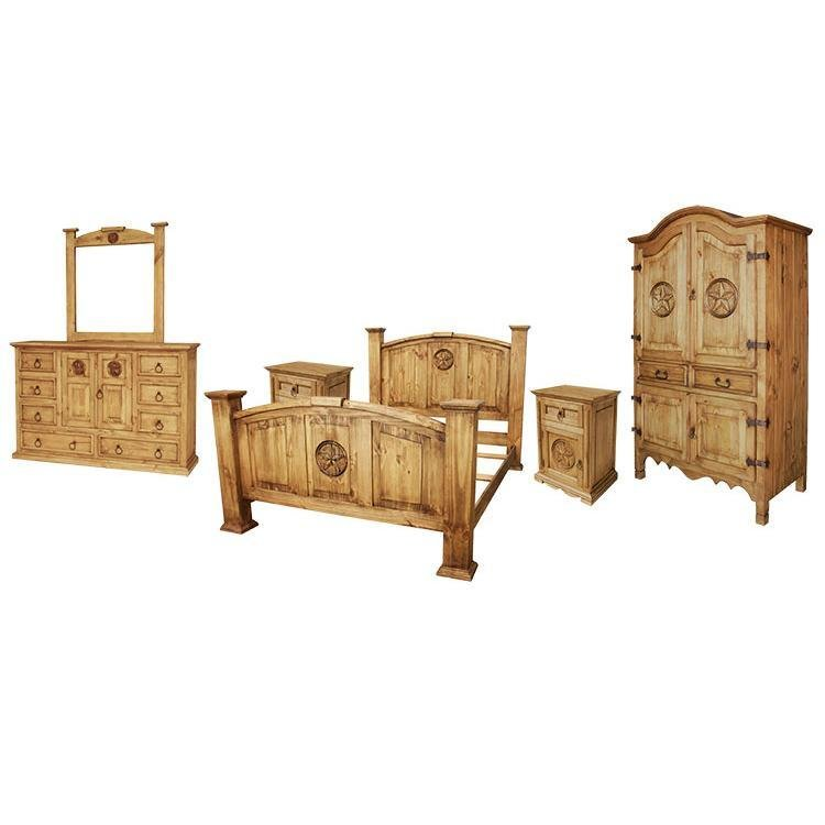 Best Rustic Pine Collection Texas Bedroom Set Bedset512 With Pictures