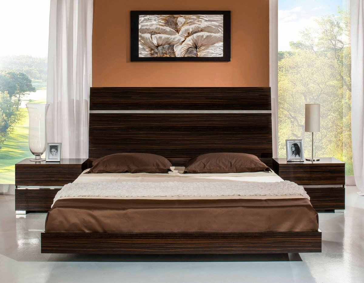Best Excalibur Italian Modern Ebony Lacquer Bedroom Set With Pictures
