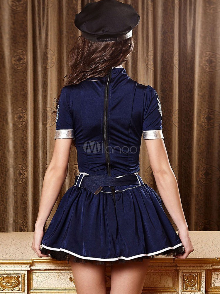 Best Cut Out Belted Short Sleeve Polyester Women S Bedroom With Pictures
