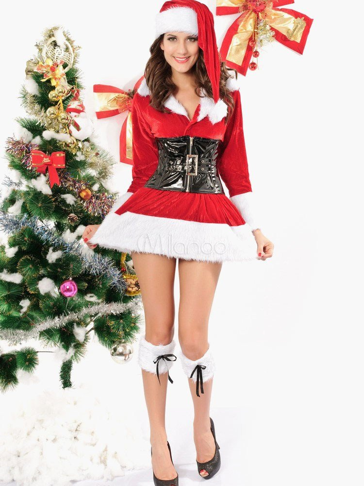 Best Belted Long Sleeve Cuffed Velour S*Xy Christmas Bedroom With Pictures