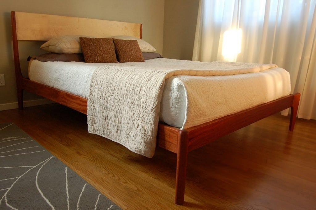 Best Vintage Danish Modern Queen Size Teak Platform Bed Furnish With Pictures