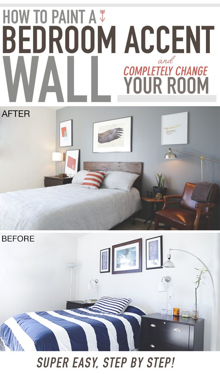 Best How To Paint A Bedroom Accent Wall And Completely Change With Pictures