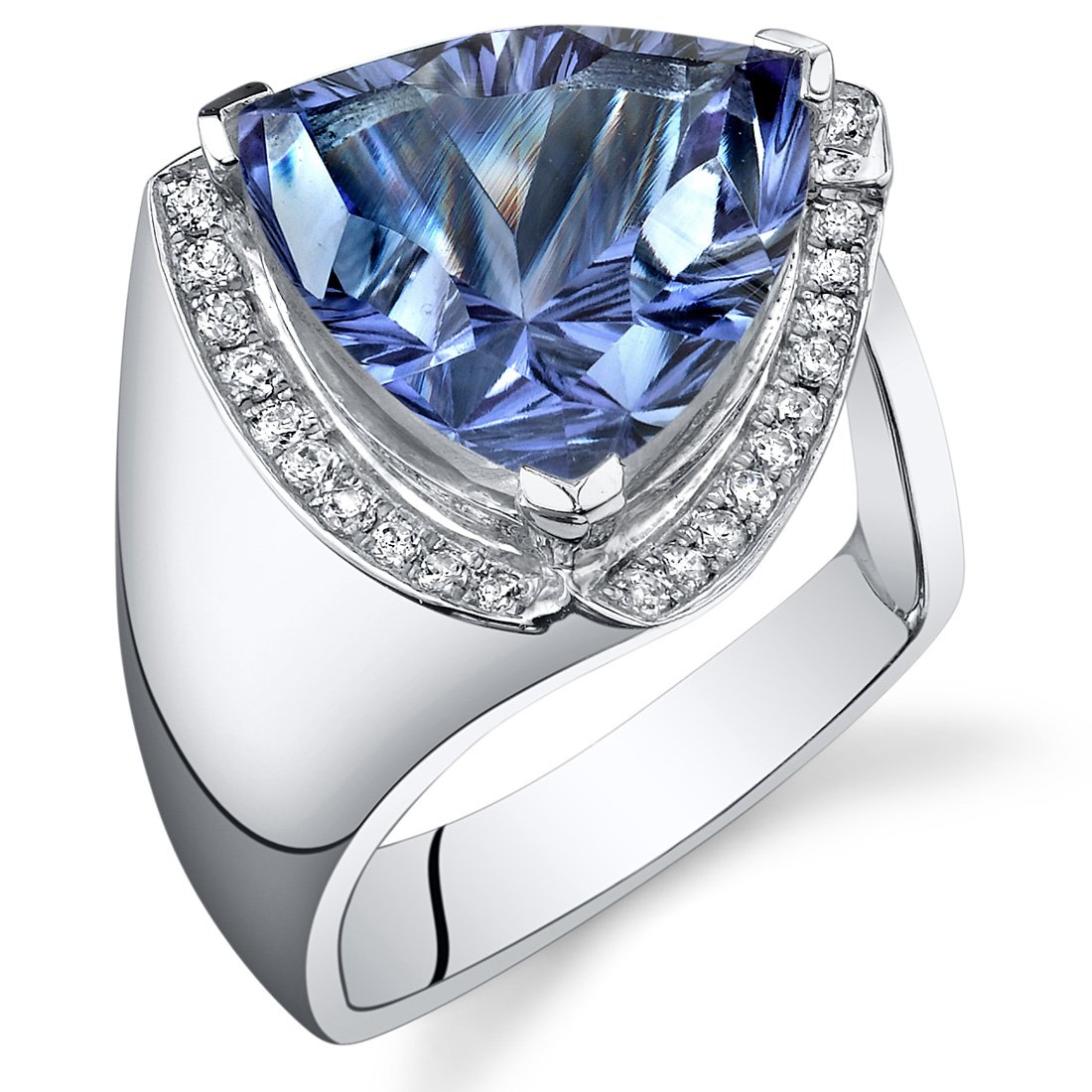 Free 8 00 Cts Trillion Cut Alexandrite Ring Sterling Silver Wallpaper
