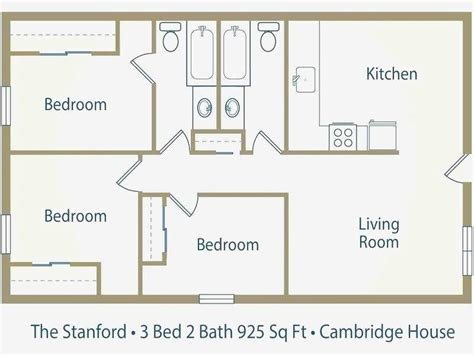 Best Size Of 2 Bedroom Apartment Awesome Average Square Footage With Pictures