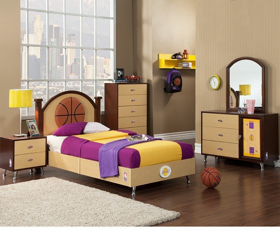 Best Lakers Bed Set Home Furniture Design With Pictures