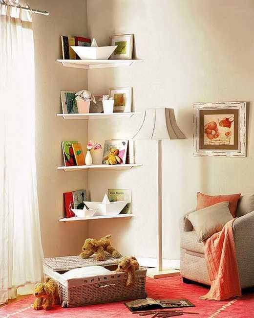 Best Simple Diy Corner Book Shelves Adding Storage Spaces To With Pictures