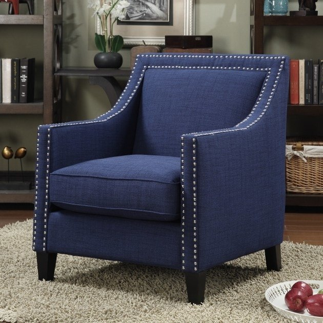 Best Home Living Room With Blue Accent Chair With Arms Vintage With Pictures