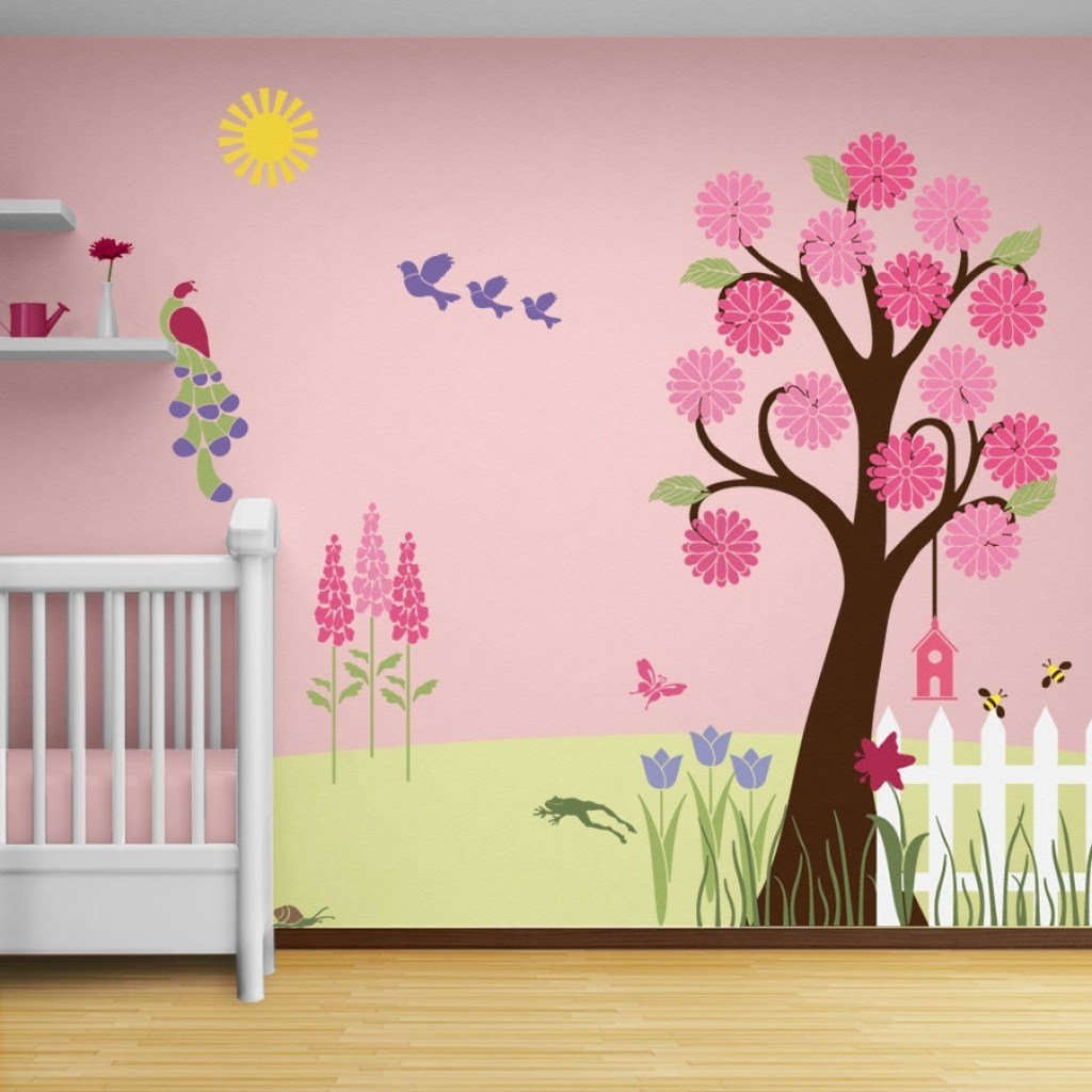 Best Girls Bedroom Wall Paintings Weneedfun With Pictures