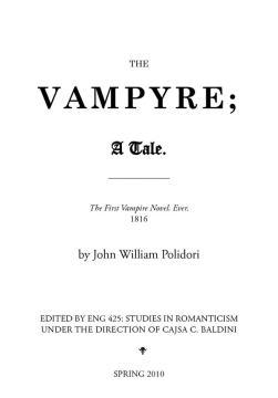 The Vampyre 1