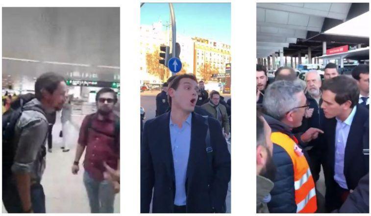 El abismo entre Pablo Iglesias y Albert Rivera ante una protesta. Uno de ellos busca el conflicto.