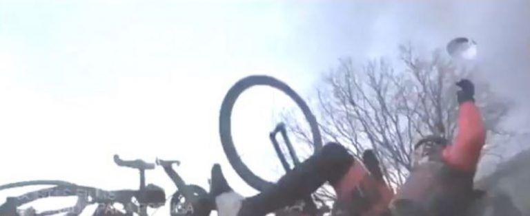 El vídeo del atropello a Dani Rovira mientras montaba en bici en un rodaje.