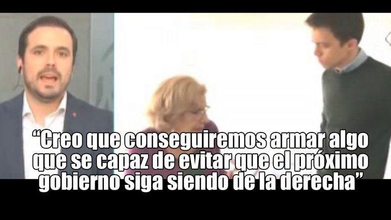 """""""Errejón se está equivocando. No nos vamos a incorporar, tenemos un acuerdo con Podemos"""". Alberto Garzón."""
