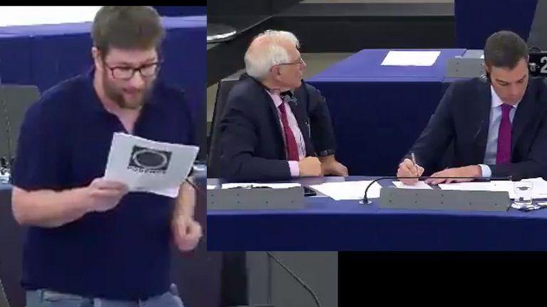 """M. Urbán (Podemos) enumera a P. Sánchez sus incumplimientos políticos """"para alegría de Salvini""""."""