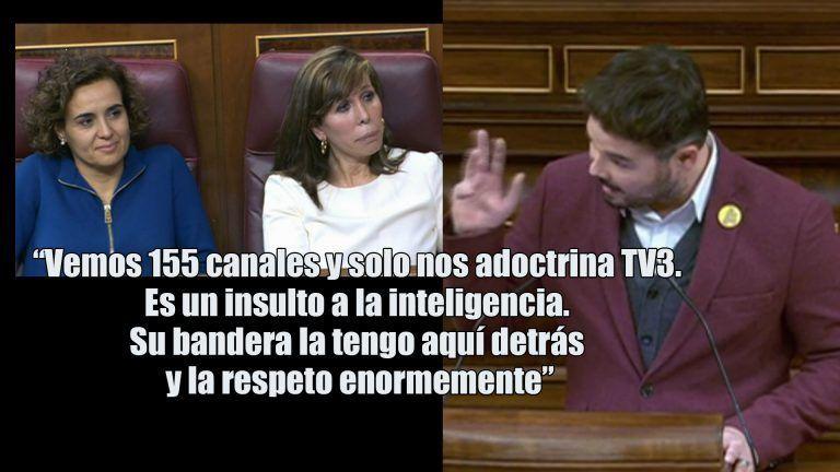 Rufián se despide de la legislatura sacando al PP de sus casillas.