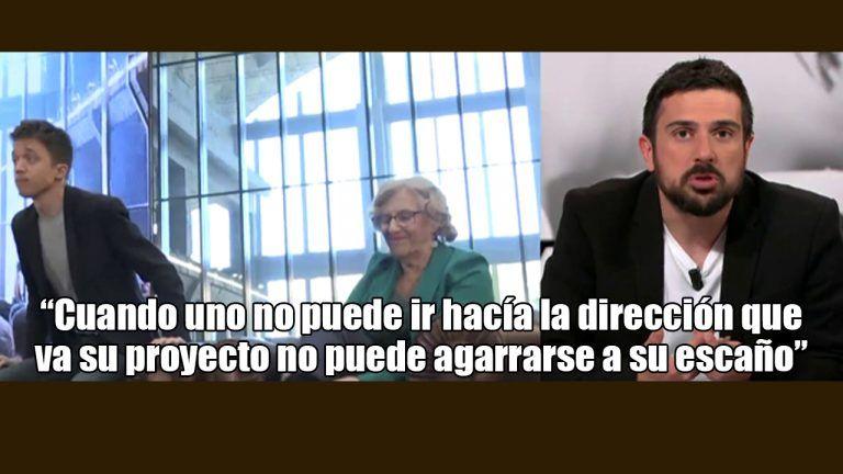 """Espinar lanza sus dardos en ARV: """"Lo que ha hecho es Errejón es inaceptable"""". """"Las ideas son muy importantes, la lealtad también""""."""