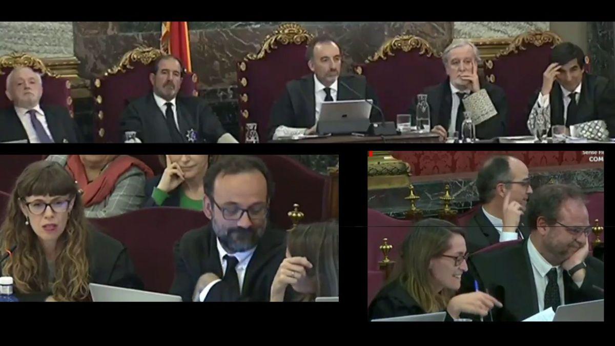 El testimonio de un G. Civil se viene abajo por sus contradicciones y hace reír a la sala con la bandera de Omnium