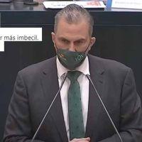 Insultos contra Ortega Smith por lo que ha hecho en el minuto de silencio por la última víctima de VDG