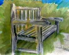 Watercolour: Our Bench