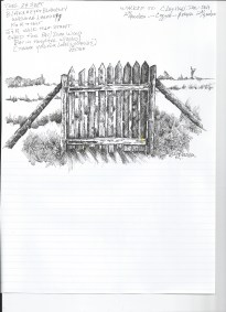PenInkDrawing Wood Gate