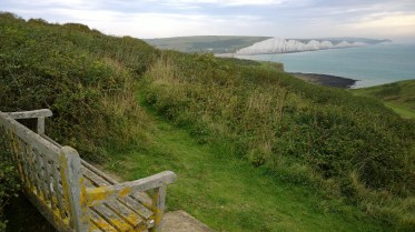 Our Bench with view of Seven Sisters, Seaford