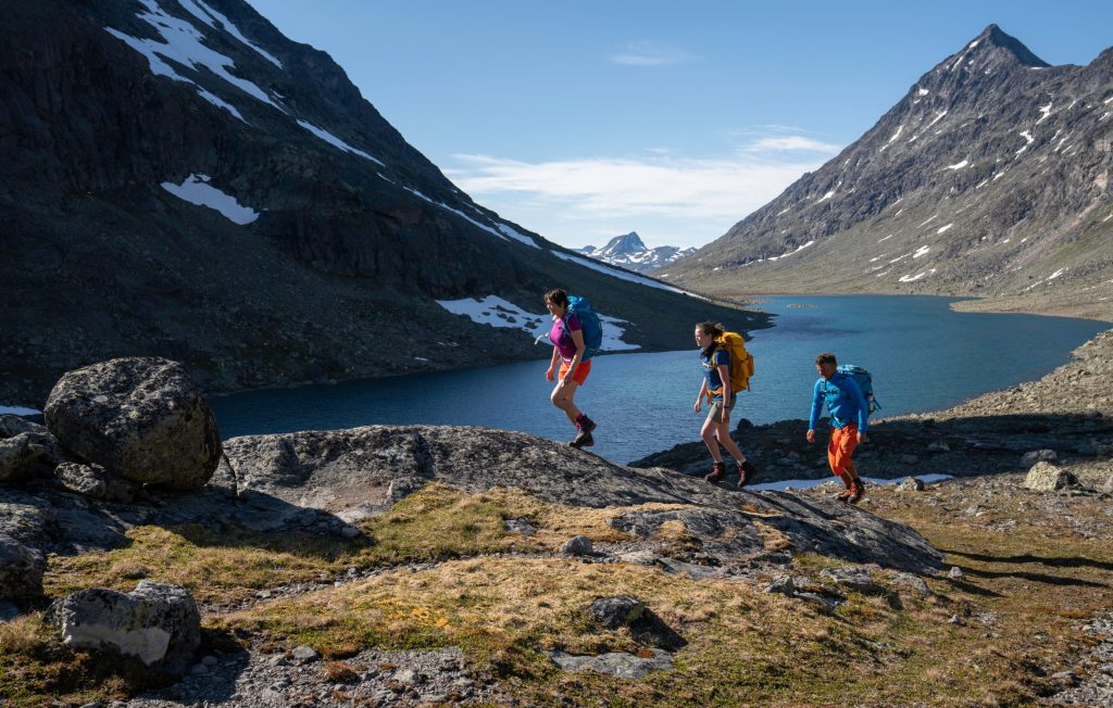Hiking through the Svartdalen valley. Historical Route, Jotunheimen.