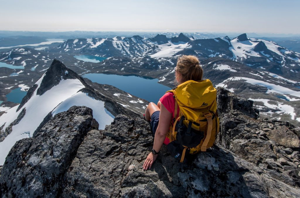 On top of peak Uranostind in Jotunheimen – Yngve Ask