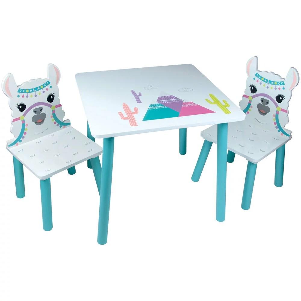 table et chaises lama