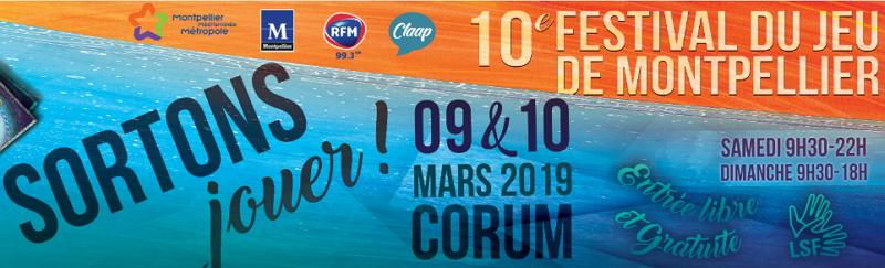 10ème festival du jeu de Montpellier les 9 et 10 mars 2019 1